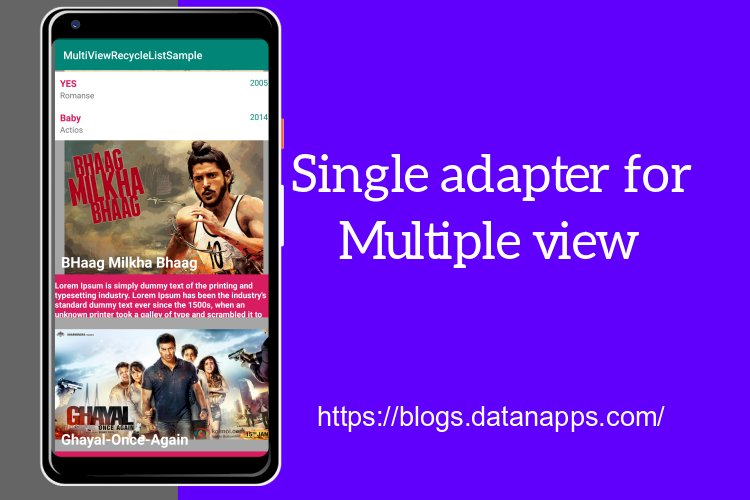 Single Adapter for Multi type/Multi view/Multi object